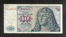 DEUTSCHLAND - DEUTSCHE BUNDESBANK - 10 MARK (Frankfurt Am Main 1977) - [ 7] 1949-… : FRG - Fed. Rep. Of Germany