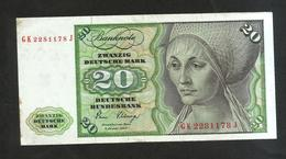 DEUTSCHLAND - DEUTSCHE BUNDESBANK - 20 MARK (1980 - Frankfurt Am Main) - 20 Deutsche Mark