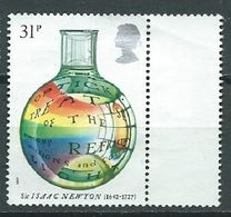 GROSSBRITANNIEN GRANDE BRETAGNE GB 1987 NEWTON: OPTICK TREATISE 31P. USED SG 1353 SC 1174 MI 1003 YT 1262 - 1952-.... (Elisabeth II.)
