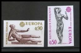 France N°1789 / 1790 Europa 1974 Sculpture L'Air, Maillol / Rodin Cote 95 Non Dentelé ** MNH (Imperforate) - Francia