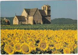 Vezac - L'église Aux Toits De Lauzes Abrite Une Belle Piéta De La Renaissance - (Dordogne) - Sarlat La Caneda