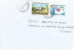 Cameroun Cameroon 1997 Garoua-Aeroport Buffalo UN Cover. Rare Postmark - Cameroon (1960-...)