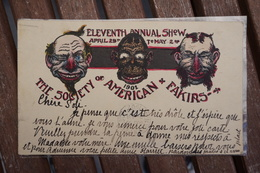 CPA - Rare The Society Of American Fakirs 1902 - Eleventh Annual Show - New York - Manifestations