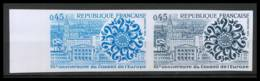 France N°1792 Conseil De L'Europe - Europa 1974 Cote 96 Essai (trial Color Proof) Non Dentelé (imperforate) ** MNH - Prove