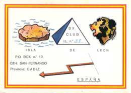 Carte QSL CB Isla De Leon San Fernando Espagne - CB