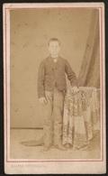 Old Photo (10,5cmx6,3cm) Old Photograph Of Boy - Bastos Photographo - Lisboa - Fotografia Rapaz 1890's - Photos