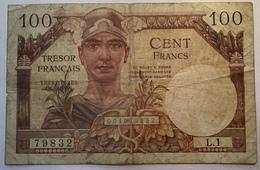 France Billet 100 Francs Trésor Français Type 1947 FAYETTE VF32.1 (bank Note - 1947 Tesoro Francés