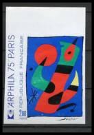 France N°1811 Tableau (Painting) Arphila 75 Miro Non Dentelé ** MNH (Imperforate) - Francia