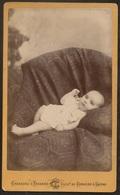 Old Photo (10,5cmx6,3cm) Old Photographia Of Baby - Carneiro & Tavares Photo - Brasil Rio Janeiro - Fotografia Bebe - Photos