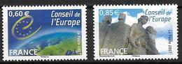 France 2007 Service N° 136/137 Neufs Conseil De L'Europe à La Faciale - Service