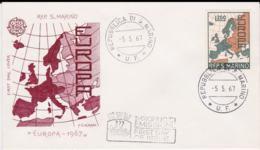 San Marino 1967 FDC Europa CEPT (G56-19) - 1967