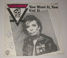 Alice Cooper 45t You Want It You Got It VG M - Hard Rock & Metal
