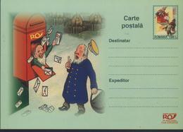 Midsummer Night's Dream NAIN/ Lutin Facteur Postal,Sac Et Boite De Poste,Lettre  Entier Postal - Roumanie/Romania 2002 - Poste