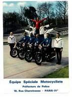 CPSM EQUIPE SPECIALE MOTOCYCLISTE PREFECTURE DE POLICE PARIS IV - Spectacle