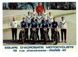 CPSM EQUIPE D' ACROBATIE MOTOCYCLISTE PREFECTURE DE POLICE PARIS IV - Spectacle