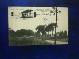 1910 SAINT OMER AVIATION LE PLATEAU DES BRUYERES ET LA ROUTE NATIONALE DE SAINT OMER A WIZERNES ETAT BON - Saint Omer