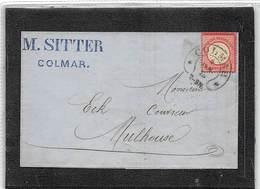 1875.- LETTRE DE COLMAR (ALSACE) A MULHOUSE. YV Nº 16. - Alemania
