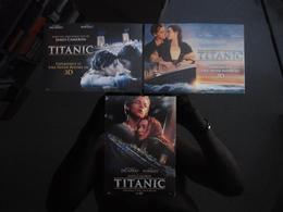 TITANIC 3D Movie Film Lot De 3 Cartes Postales - Cine