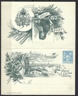 France, Entier Postal, 1893, Carte Lettre Commémo. Timbrée Sur Commande, Centenaire De Dunkerque, Carton Blanc Tir. 2500 - Autres