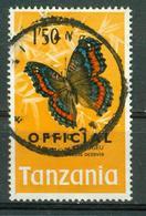 BM Tanzania Official 1973 MiNr 24 Used | Butterflies Butterfly, Precis Octavia - Tansania (1964-...)