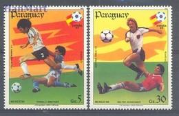 Paraguay 1984 Mi 3745+3747 MNH ( LZS3 PRG3745,3747 ) - Fußball-Weltmeisterschaft