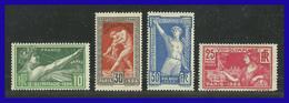 1924 - Francia - Sc. 198  201 - VC. 125 € - J.J.O.O. De Paris - MNH - FR- 021 - 02 - Verano 1924: Paris