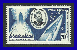 1955 - Monaco - Sc. C 45 - MNH - MO- 701 - 50º Aniv. Muerte De Julio Verne -de La Tierra A La Luna - Verano 1924: Paris