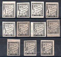 COLONIES GENERALES - YT Taxe N° 1 à 11 - Neufs * - MH - Cote: 147,00 € - Portomarken