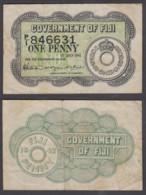 Fiji 1 Penny 1942 (VF) Condition Banknote P-4 - Fiji