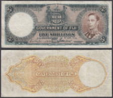 Fiji 5 Shillings 1951 (VG-F) Condition Banknote KM #37k KGVI - Figi