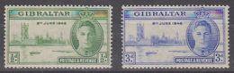 Gibraltar 1946 Victory 2v ** Mnh (43320) - Gibraltar