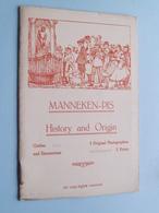 MANNEKEN-PIS History And Origin ( Carnet ALBERT - A. Dohmen ) Anno 19?? ( Zie Photo ) ! - Monumenten, Gebouwen