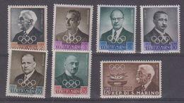 San Marino 1959 Olympic Games 7v ** Mnh (brown Gum !!!, See Scan) (43322) - San Marino