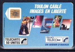 CARTE TELEPHONIQUE F22 TOULON CABLE - TRES BON ÉTAT - RARE - PORT RECOMMANDÉ OFFERT - 1987