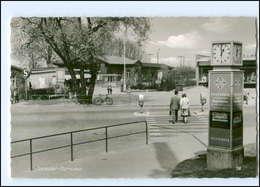 XX005100/ Wedel Schulau  Beim Bahnhof , Straßenuhr Mit Werbung AK Ca.1965 - Allemagne
