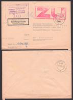DDR ZKD Brief ZU Stempel Rot, Leipzig Kreisgericht An Deutsche Reichsbahn Zustellungsurkunde, Bf Links Eingerissen - Servizio
