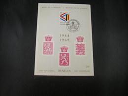 "BELG.1969 1500 FDC Philacard ( Brux. ) :  "" BENELUX 1944-1969   "" - FDC"