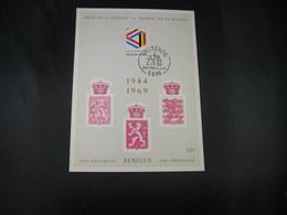 "BELG.1969 1500 FDC Philacard ( Oostende ) :  "" BENELUX 1944-1969   "" - FDC"