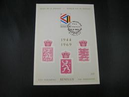 "BELG.1969 1500 FDC Philacard ( Nivelles ) :  "" BENELUX 1944-1969   "" - FDC"