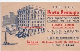 Carte Commerciale/ALBERGO PORTO PRINCIPE/Confort Moderno/Prezzi Modici/Via Gramsci/GENOVA/Italie/Vers 1945-50   CAC163 - Autres Collections
