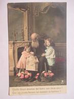 JOURNAUX  -  LA LECTURE  -   GRAND-PERE ET PETITS ENFANTS         TTB - Cartes Postales