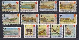 Isle Of Man 1973 Definitives 13v ** Mnh (43325) - Man (Eiland)