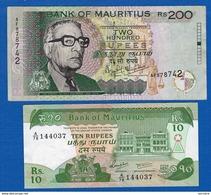Maurice  2  Billet - Mauritius