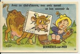 14 - BERNIERES SUR MER / CARTE A SYSTEME - LE PEINTRE Par BOZZ - France