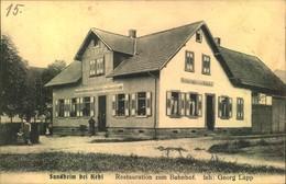 SUNDHEIM Bei KEHL, Restauration Zum Bahnhof Als Feldpost Gelaufen 1916 - Germany