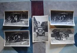 5 Photos De Ford T Dans Jardin Villa Marseille (Catalans) - Juillet 1921 - Automobiles