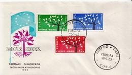 Cyprus Set On FDC - 1963