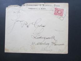 DR 1880 Pfennige Nr. 33 Mit Zwischensteg Ra 3 B.P. No 26 Frankfurt Ankunftsstempel K1 Lüdingworth. Bei Cuxhaven - Germany