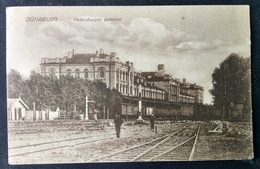 DAUGAVPILS, DÜNABURG, DVINSK, DYNEBURG, 1916 - 1918, Railway Station - Lettonie