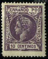 Fernando Poo Nº 141 Con Charnela - Fernando Poo